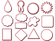 различные формы ярлыка Стоковые Фото