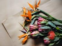 Различные цветки для букета Стоковые Изображения