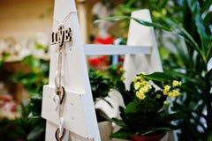 Различные цветки на баках на магазине цветка Стоковое фото RF