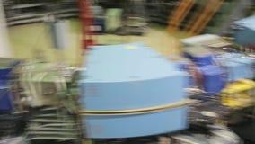 Различные части коллайдера 037/052 электрон-поситрона видеоматериал