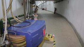 Различные части коллайдера 041/052 электрон-поситрона видеоматериал