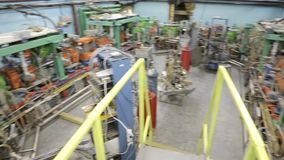 Различные части коллайдера 047/052 электрон-поситрона видеоматериал
