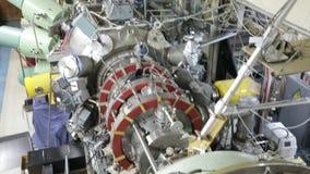 Различные части коллайдера 048/052 электрон-поситрона сток-видео