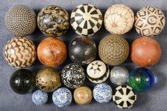 Различные шары различных материалов Стоковые Изображения