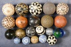 Различные шары различных материалов Стоковые Фотографии RF