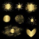 Различные элементы золота, вектор Стоковая Фотография