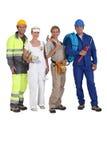 различные 4 работника торговлями Стоковая Фотография RF