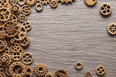Различные cogwheels металла и колеса шестерни Стоковая Фотография