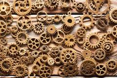 Различные cogwheels металла и колеса шестерни Стоковые Изображения