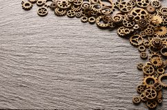 Различные cogwheels металла и колеса шестерни Стоковое Фото