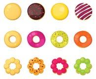 Различные donuts типа бесплатная иллюстрация
