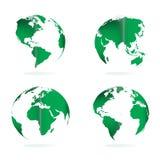 различный вектор иллюстрации глобуса осматривает мир иллюстрация вектора