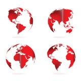 различный вектор иллюстрации глобуса осматривает мир бесплатная иллюстрация