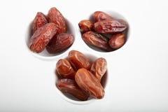 Различный вид 3 плодоовощей высушенных дат финиковой пальмы Стоковое фото RF