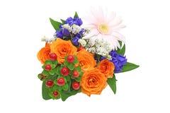 Различный вид цветков в белой предпосылке Стоковая Фотография
