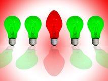 различный красный цвет светильника Стоковые Фотографии RF