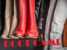 Различный лагерь ботинка стоковое изображение