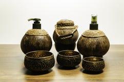 Различный размер 3 латунного шара с комплектом курорта 3 кокосов Стоковые Изображения