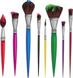 различный paintbrush Стоковые Фото