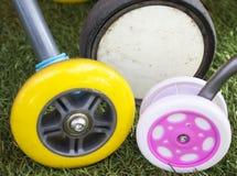 3 различных колеса Стоковые Изображения RF