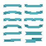12 различных стиля лент покрашенных синью Стоковая Фотография