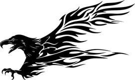 Размах крыла дракона большой иллюстрация вектора