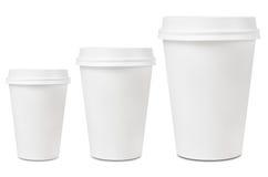 Размеры выпивая чашки кофе Стоковая Фотография