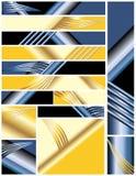 размеры комплекта цветов знамен multi Иллюстрация вектора