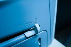 Размер бумаги на принтере стоковые изображения rf