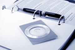 размер компактного диска визитной карточки Стоковое Фото