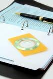 размер компактного диска визитной карточки Стоковая Фотография RF