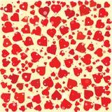 Размер сердец различный и шаблон предпосылки цвета круглый Стоковая Фотография