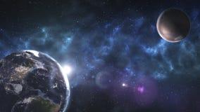 Разметьте искусство, неимоверно красивые обои научной фантастики Endle Стоковые Фотографии RF