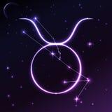 Разметьте символ Тавра концепции зодиака и гороскопа, искусства вектора и иллюстрации Стоковые Изображения RF