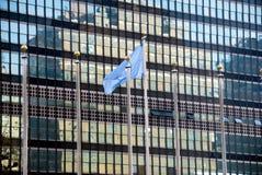 размещает штаб новая ООН york Стоковая Фотография
