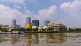Размещайте штаб здание электричества производя власть Таиланда EGAT стоковые изображения rf