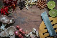 Размещение приправляя смеси еды компонентное стоковые изображения rf