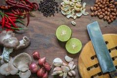 Размещение приправляя смеси еды компонентное стоковое изображение rf