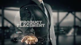 Размещение продукта с концепцией бизнесмена hologram стоковые фото