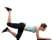 разминка женщины позиции пригодности Стоковые Фотографии RF