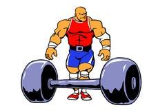 Разминка культуриста muscule Powerlifting Стоковое Изображение RF