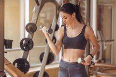 Разминка молодой женщины в образе жизни спортзала здоровом Стоковые Фотографии RF