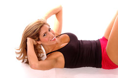 разминка тренировки сексуальная Стоковое фото RF