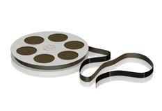 размотанная лента кассеты 3d магнитная музыкальная Стоковое Фото