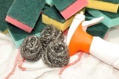 Размыватели чистки губки и металла Стоковое Изображение RF