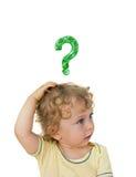 Размышлять ребенка стоковые фотографии rf
