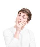 Размышляя подросток стоковая фотография rf
