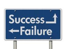 Разница между успехом и отказом Стоковое фото RF