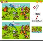 Разницы в находки с группой характеров насекомых животной Стоковые Фото