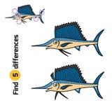 Разницы в находки, Sailfish иллюстрация штока